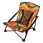 Crazy Creek Crazy Legs Quad Beach/Festival Chair, Tie-Dye